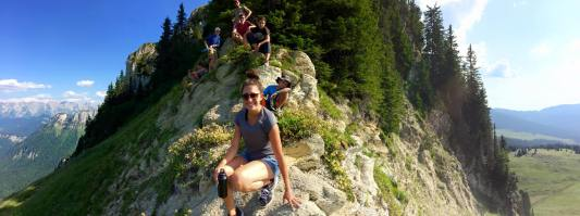Audri Rodriguez of FIU in the French Alps (Photo: JW Bailly CC BY 4.0)