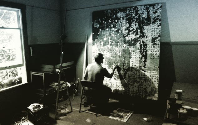 JW Bailly in Power House Studio at Deering Estate (Photo: Gerry Stecca)