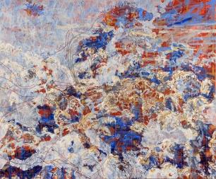 John William Bailly. Daphne Major, 2006. Oil on canvas. 68 x 82 in/173 x 208 cm