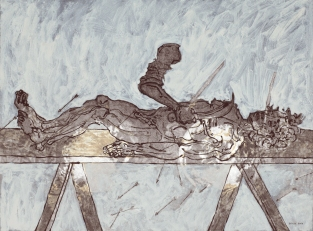 John William Bailly. Old Havana (Place of Mind with Richard Blanco), 2007. Mixed media on paper. 22 x 30 in/58 x 76 cm
