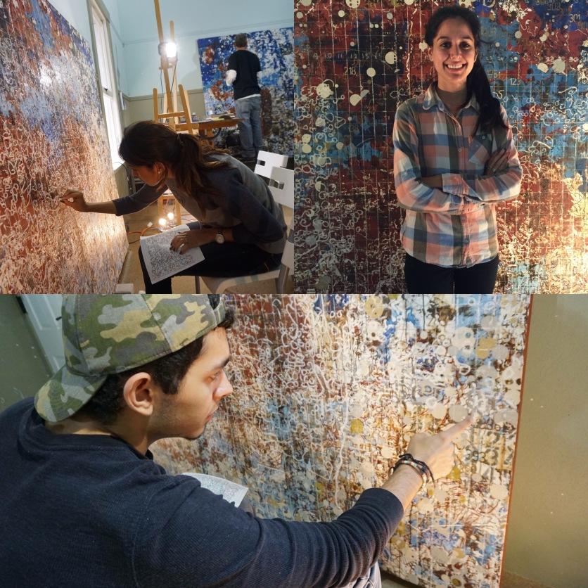 "Roxana Vargas, Valerie Villa, & Alex Lugo worked as interns on ""10,000 Years of Miami"" (Photo: JW Bailly CC BY 4.0)"