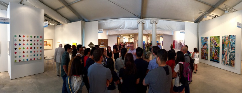 UMMA Director George Kinghorn with A&V students at Art Miami (Photo: JW Bailly CC BY 4.0)