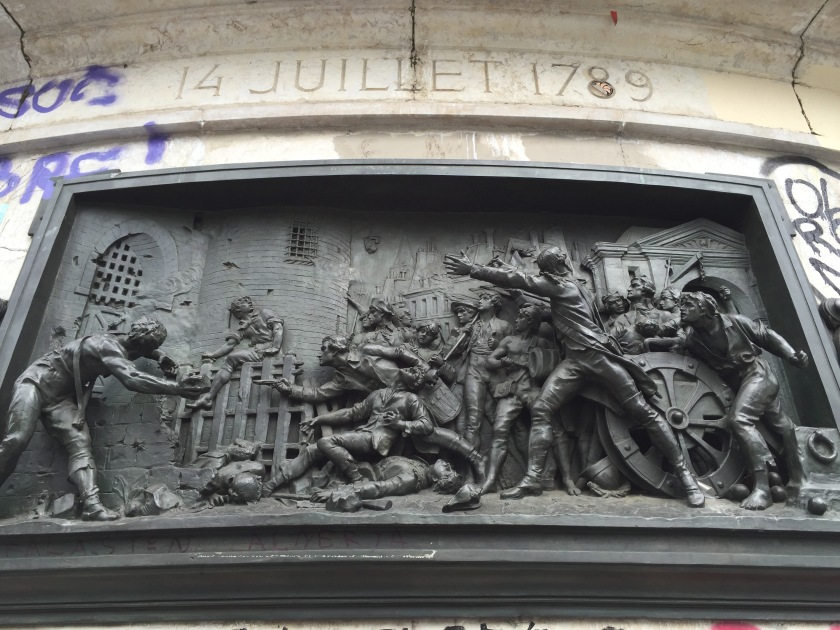 Relief Sculpture of Bastille Day on Place de la Republique in Paris (Photo by JW Bailly CC BY 4.0)