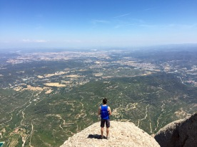 Corey Ryan of FIU reaches the peak of the Montserrat hike. (Photo JW Bailly CC BY 4.0)