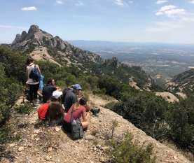 FIU España 2017 hike Montserrat. (Photo by JW Bailly CC BY 4.0)