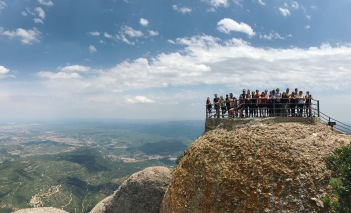 FIU España 2017 at the peak of Sant Jeroni of Montserrat. (Photo by JW Bailly CC BY 4.0)