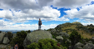 Corey Ryan on the El Escorial hike of FIU Espana Study Abroad. (Photo by JW Bailly CC BY 4.0)