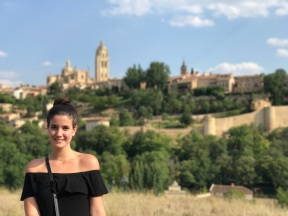 Yina Cabrera of FIU in Segovia. (Photo by JW Bailly CC BY 4.0)