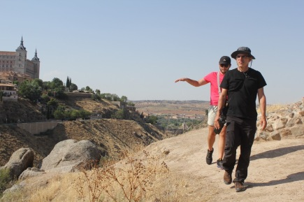 Joseph Vargas and John W Bailly hike in Toledo. (Photo by Victoria Atencio CC BY 4.0)