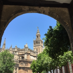 La Giralda bell tower in Sevilla (Photo by JW Bailly CC BY 4.0)