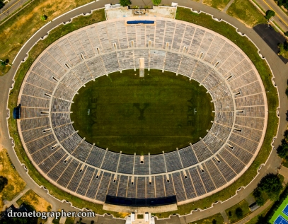 Yale Bowl in New Haven (Photo by Peter Sachs of dronetographer.com)