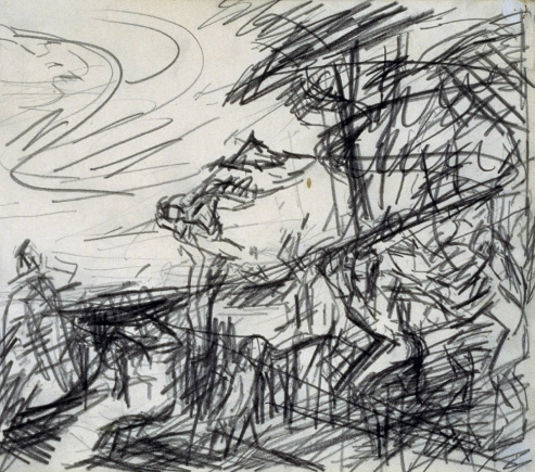 Sketch from Titian's 'Bacchus and Ariadne' 1970-71 Frank Auerbach born 1931 Presented anonymously 2000 http://www.tate.org.uk/art/work/T07628