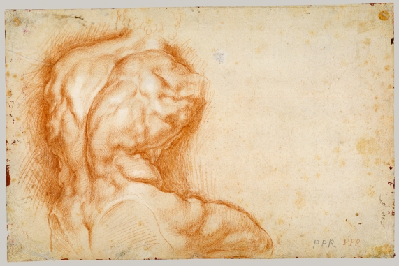 Working Title/Artist: Study of the Belvedere Torso Department: Drawings & Prints Culture/Period/Location: HB/TOA Date Code: Working Date: ca. 1601-2 photography by mma 2001, transparency #4b scanned and retouched by film and media (jn) 8_6_03