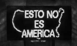 Gonzalo Fuenmayor. Cancion para Alfredo Jaar's Logo for America, 2015. Charcoal on paper. 33 x 26 inches. Courtesy of the Artist.