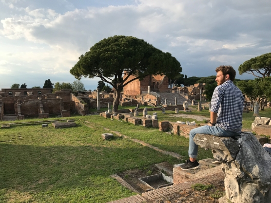 Nick Gomez of FIU Honors College at Ostia Antica (Photo by JW Bailly CC BY 4.0)