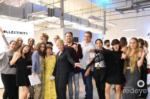 """FIU Honors students of ASC 2018-2019 at the """"Collectivity"""" opening at the Bakehouse Art Complex © Alejandro Chavarria (CC by 4.0)"""
