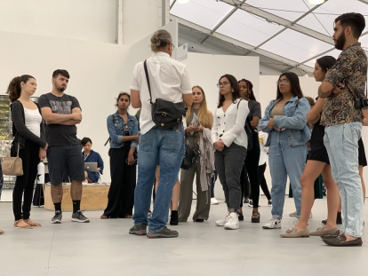 FIU Honors students at UNTITLED, Art. Miami Beach 2018 (Photo by Liliana Fonte (CC by 4.0))