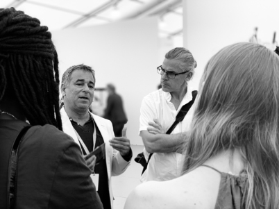Omar López-Chaoud, former FIU alum and the Artistic Director of UNTITLED, Art., speaking to the students of ASC/PAC Fall 2018 © Liliana Fonte (CC by 4.0)