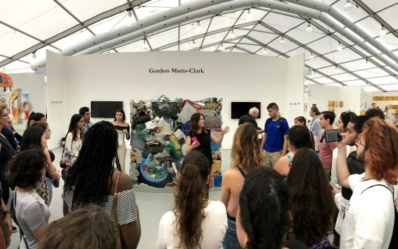 Manuela Mozo of UNTITLED, Art speaks to the students of PAC 2017-2018 © John William Bailly