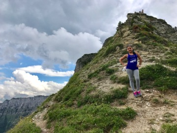 Zayda Hubert of Honors France 2017 in the French Alps © Anabel Tirado Torres (CC by 4.0)