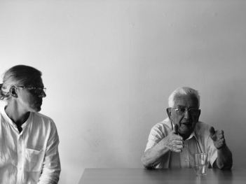 Professor John Bailly and M. Claude Bloch (Photo by Alexia Planos CC by 4.0)