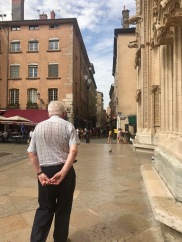 M. Claude Bloch accompanied the FIU France Study Abroad class in a visit of Lyon (Photo by Natalie Brunelle CC BY 4.0)