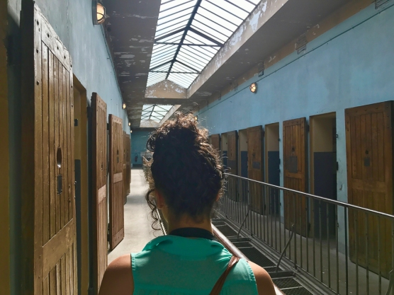 Emily Boulos of FIU at the Mémorial National de la prison de Montluc in Lyon (Photo by JW Bailly CC BY 4.0)
