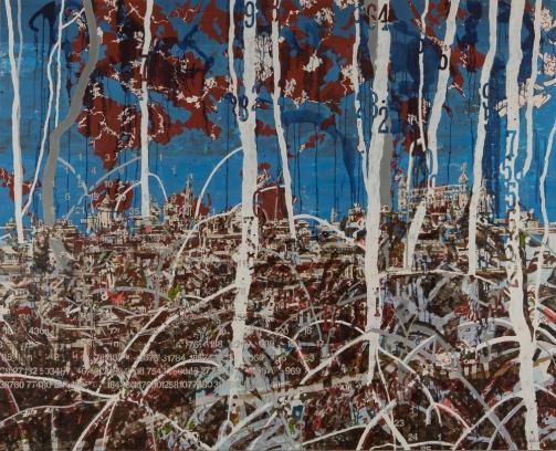 JW Bailly. Miami Toledo, 2017. Oil on canvas. 67 x 87 in/170 x 210 cm. Courtesy of LnS Gallery.